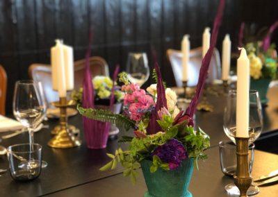 Hochzeitstafel ohne Tischdecke
